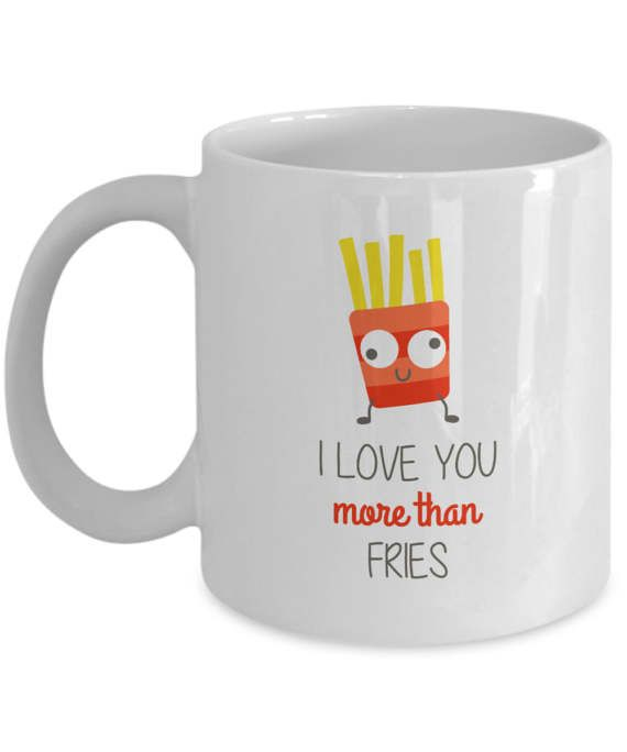 I Love You More than Fries Funny Illustration Gift by dungishop