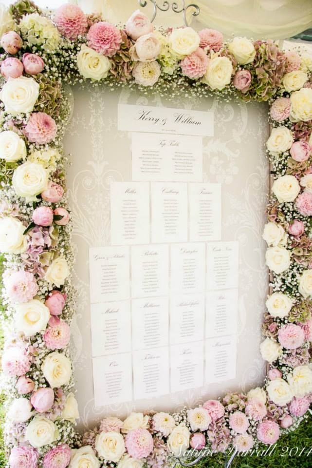 How stunning is this floral wedding guest plan by G Lily?