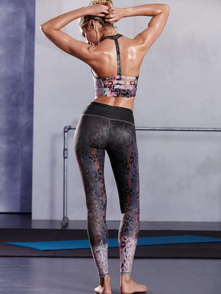 animal print racerback sportsbra and leggings