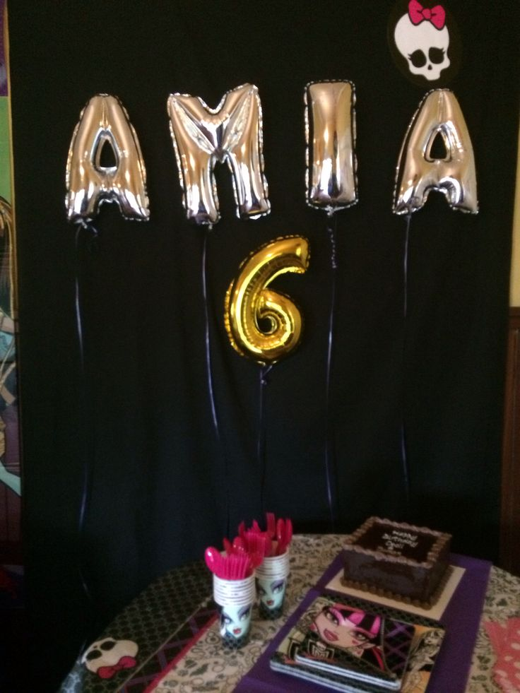 Amia's 6th monster high party