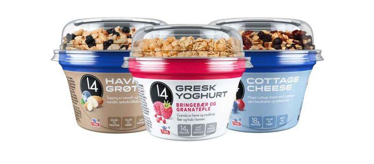 14 havregrøt, 14 gresk yoghurt og 14 cottage cheese