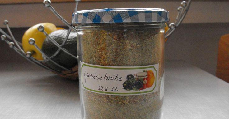 ganz schneller Suppengrundstock - Gemüsebrühpulver
