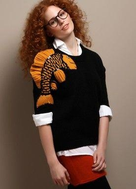 2 ters 1 duz FW 10 collection from Markafoni shootings Koi Fish sweater by ipek arnas
