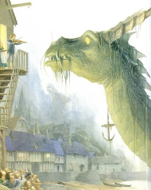 Alan Lee, illustration for a book called The Moon's Revenge by Joan Aiken (The Moon's Revenge is an eery gothic thriller by Joan Aiken of a young boy, his thirst for music, and the dangers he must overcome to use his gift. A haunting tale celebrating the power of love and the human spirit.)