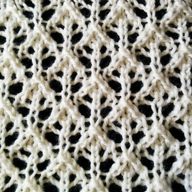 The Buds and Lattice lace stitch that looks very intricate and elaborate, but not difficult to knit.
