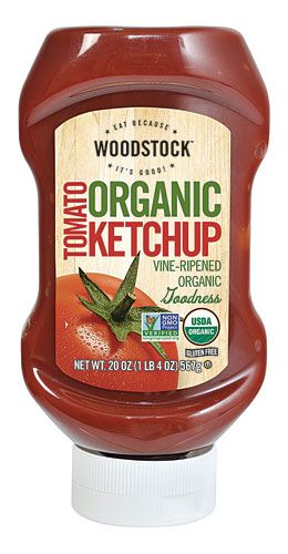 Woodstock Farms: Organic condiments, dried and canned fruit, canned and frozen vegetables, rice, tofu, sugar, etc.