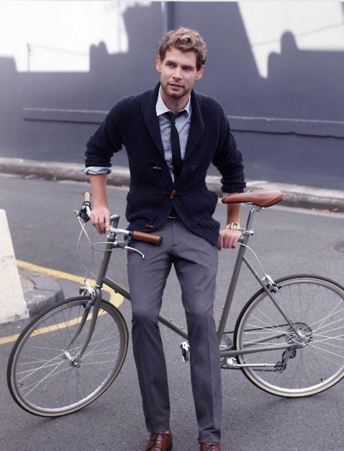 Great fall look.: Men S Style, Sweater, Bike, Men S Fashion, Tie, Cardigan, Mens Fashion, Mensfashion, Bicycle