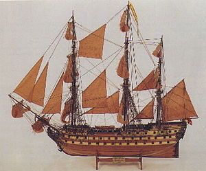 Spanish Ship - Battle of Trafalgar - San Juan Nepomuceno