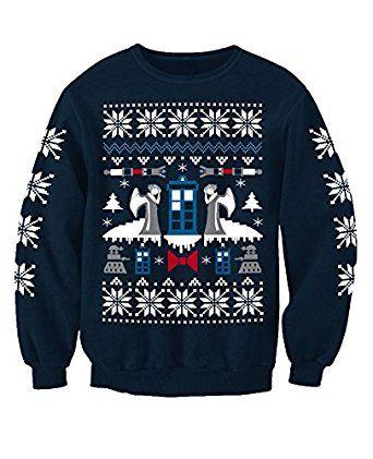 Doctor Who Angel Inspired Christmas Sweatshirt Jumper Adults: Amazon.co.uk: Clothing