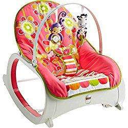 Fisher Price Floral Confetti Baby Infant Toddler Girls Swings, Bouncers and Rocker Sleeper with Toy Bar