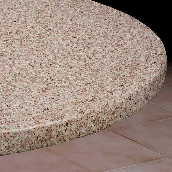 Round Elasticized Tablecloth Table Cover Granite Vinyl Fitted Cover 36 44 Vinyl Table Covers Round Table Covers Table Covers