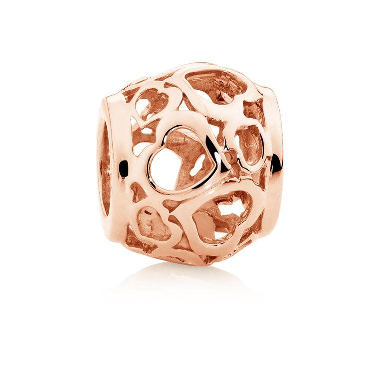 Rose gold charm (11952473) #rosegold #emmaandroe