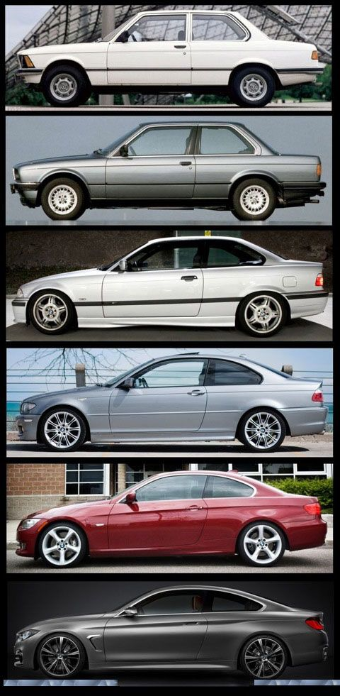 Have a look at #BMW's third #series. #Mention in the comment below. Which one has the importance more than your hot dona? #E21: 1975–1981 Coupe and Cabriolet. #E30: 1982–1991 Coupe, Sedan, Cabriolet and Touring. #E36: 1992–1998 Coupe, Sedan, Cabriolet, Compact and Touring. #E46: 1999–2005 Coupe, Sedan, Cabriolet, Compact and Touring. #E90: 2005–2011 Sedan.