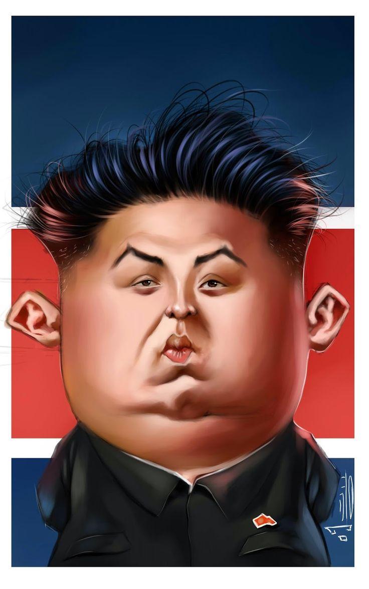 caricaturas: kim jong un. (Con lợn xứ Bắc Hàn)