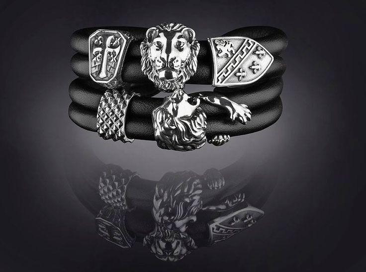 REBELIGION true Silver leather bracelet