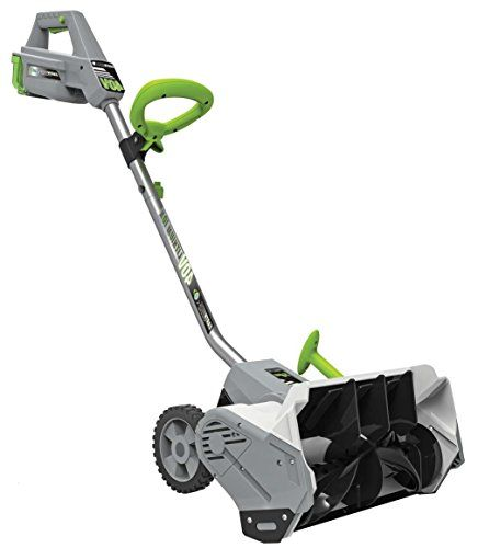 """Earthwise SN74014 40V Electric Snow Shovel, 14"""" Cordless - The Earthwise SN74014 is ideal for quick & easy way to remove snow from decks, steps, patios, sidewalks & driveways! 14"""" wide shovel can throw snow up to 32 feet! cordless, light weight & convenient to store. 14"""" wide, 40V battery & charger included."""