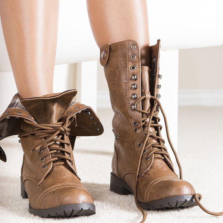 oralee-tan-combat boots $26.99 via @shopseen