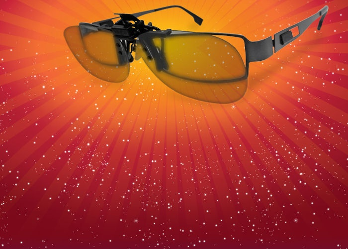 3D clip-ons for your spectacles. R 30,00 at Nu Metro 3D cinemas.