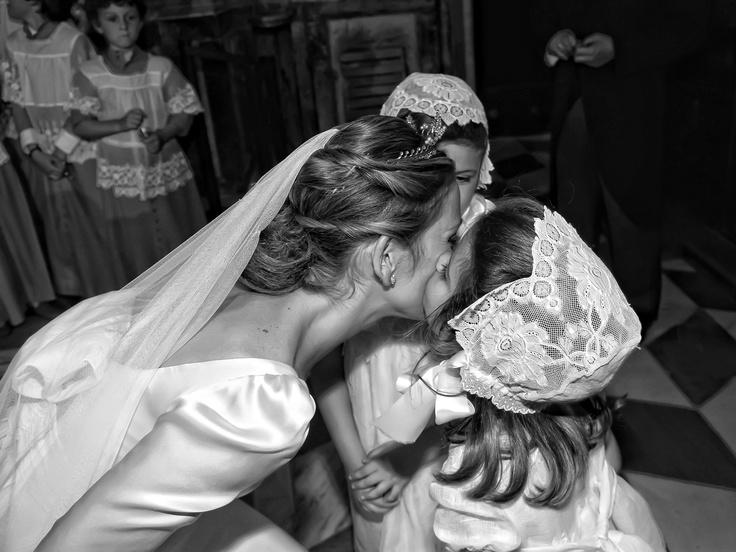 El #beso de los pequeños pajes