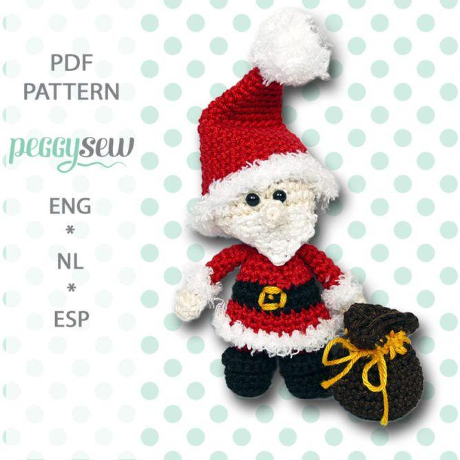 nl]Amigurumi haakpatroon, Mini kerstvrouw[:en]Amigurumi crochet ...