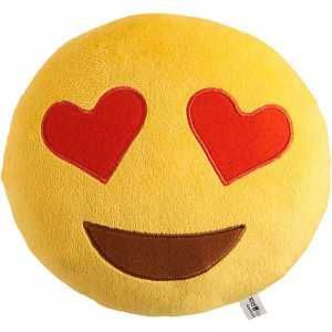 This emoji heart eyes pillow