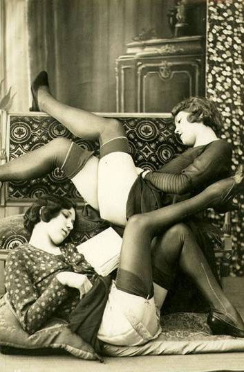 Verrry steamy for the 1930s. Further proof, however, that books are just as sexy as showing a little leg.