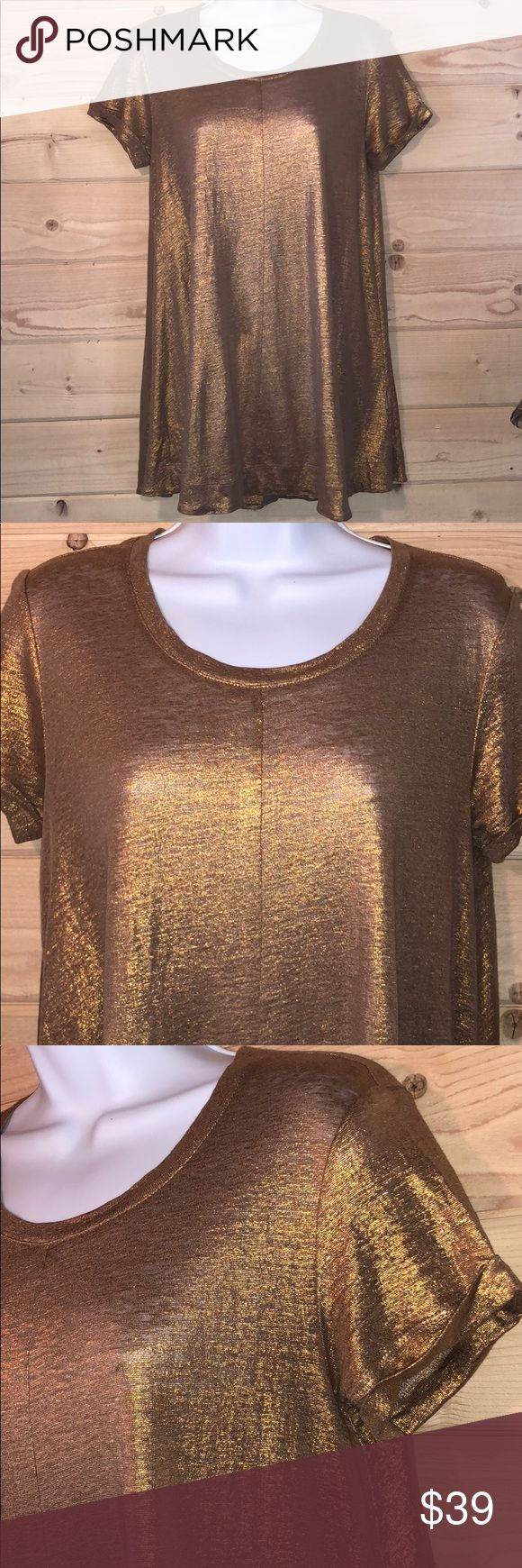 Bordeaux Metallic Copper Top/Tunic Dress Gorgeous! Excellent condition see photos. Anthropologie Dresses