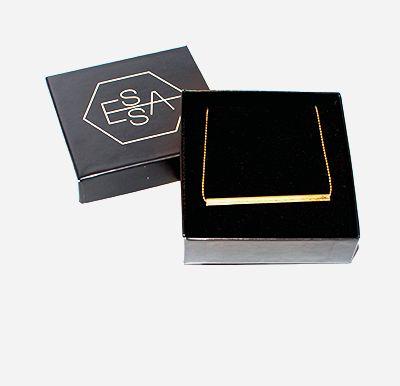 Gold plated tube necklace made by Essa Design https://www.etsy.com/shop/EssaDesign