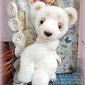 Куклы и игрушки ручной работы. Ярмарка Мастеров - ручная работа Белый. Тедди медвежонок.. Handmade.