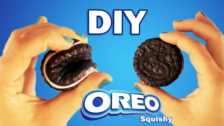 OREO SQUISHY DIY | HOW TO MAKE A COOKIE SQUISHY STRESSBAL