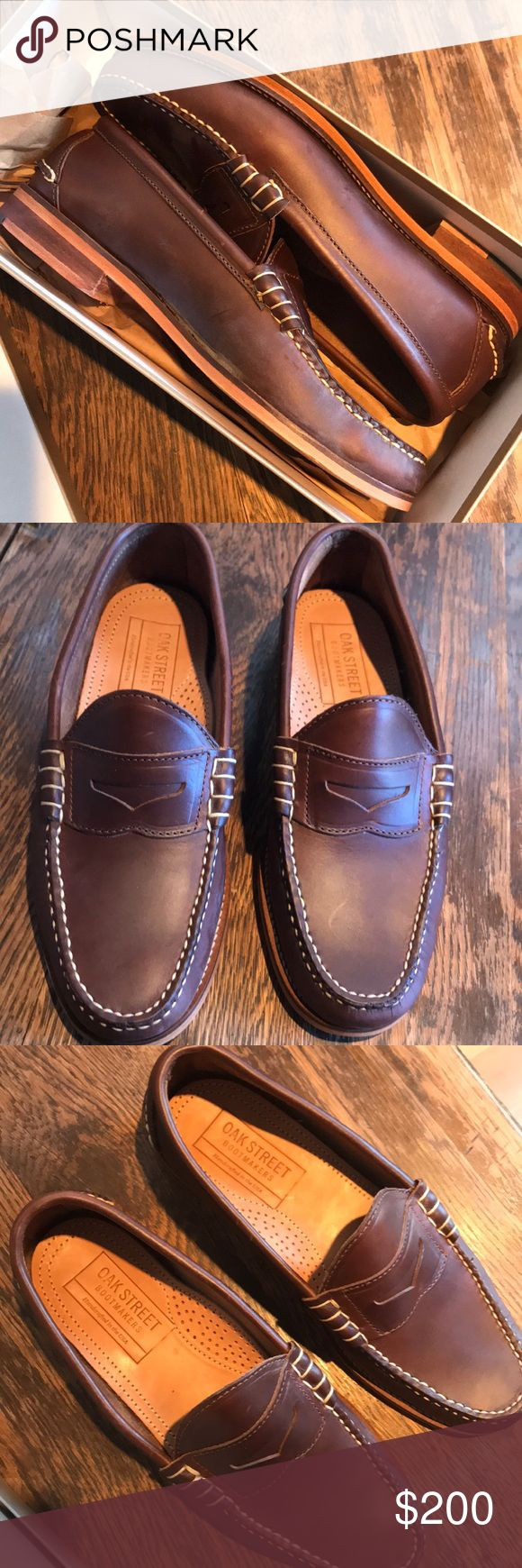 NIB Oak Street Men's Loafers Gorgeous hand stitched detail on these NIB men's leather loafers made by renowned shoemaker Oak Street Bootmakers.  These are a gorgeous addition to any mans wardrobe . Oak Street Bootmakers Shoes Loafers & Slip-Ons