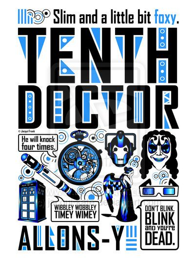 Tenth Doctor: Poster by jacqui-kate on deviantART