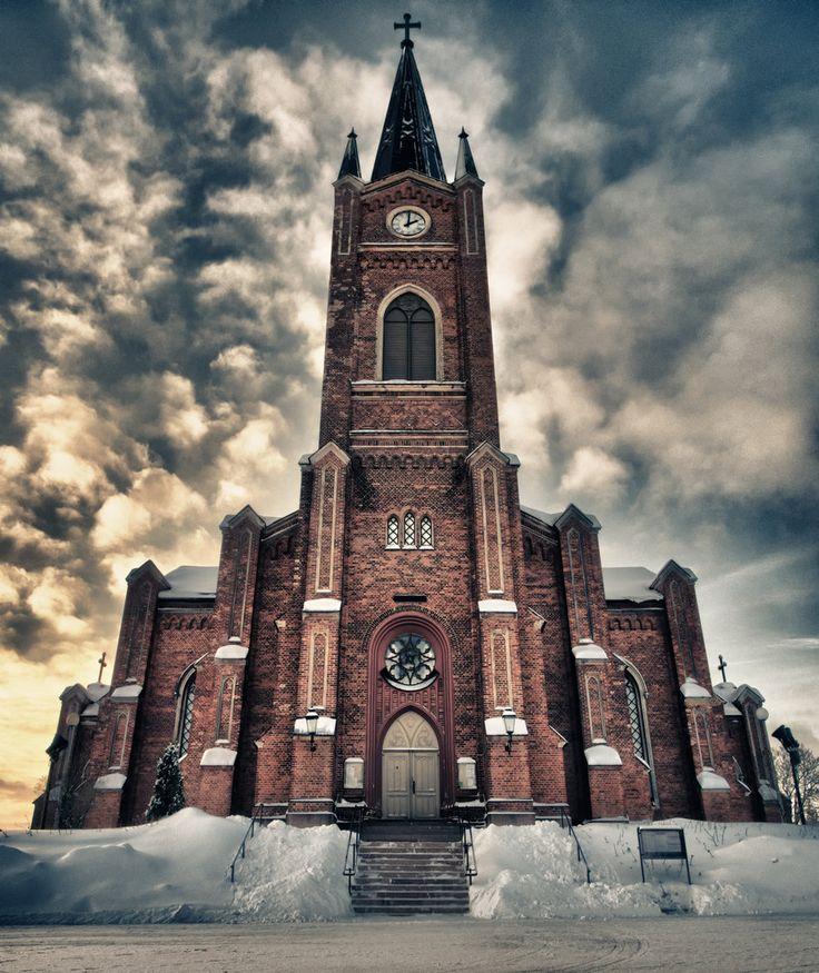 Church of Loviisa, Loviisa, Finland by Kenneth Lehtinen