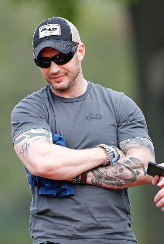 Tom Hardy -   Audi Polo Challenge at Coworth Park on May 6, 2017 in Ascot, United Kingdom.