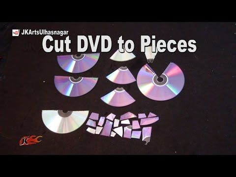 FAQ How to Cut  DVD To Pieces | JK Arts 1005 - YouTube