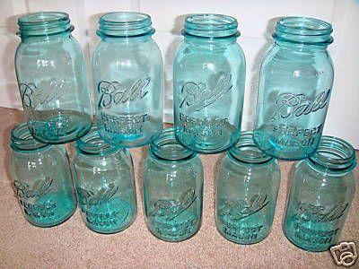 Being the thrify planner that I am, I found a bunch of mason jars at my local thrift store for twenty cents each.  Now all to do is paint them this gorgeous color!  These are going to be great with some orange flowers in them!