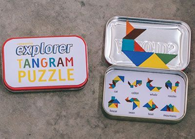 Learn how to make a magnetic tangram puzzle out of a recycled tin container. This craft gives you a chance to talk to kids about the important role that each person plays in your family as a whole.