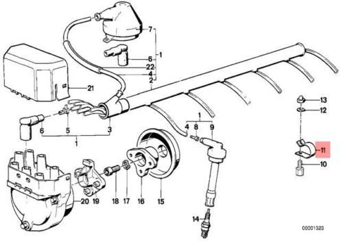 Details about Genuine BMW E23 E24 E28 Ignition Wiring
