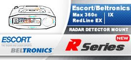 BlendMount Aluminum Radar Detector Mount, Escort Max 360c, RedLine