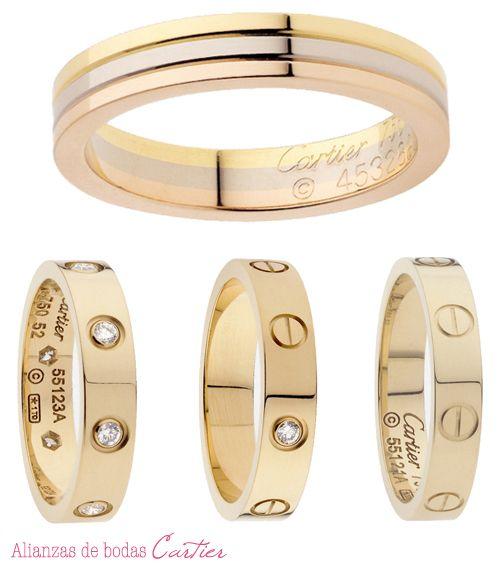 Alianzas de bodas y anillos de compromiso de Cartier