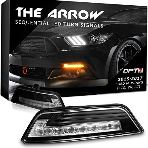 Arrow Sequential Mustang LED Turn Signals w/Switchback DRL for 2016-2017 Ford Mustang - White Amber Light Left Right Pair. For product info go to:  https://www.caraccessoriesonlinemarket.com/arrow-sequential-mustang-led-turn-signals-wswitchback-drl-for-2016-2017-ford-mustang-white-amber-light-left-right-pair/
