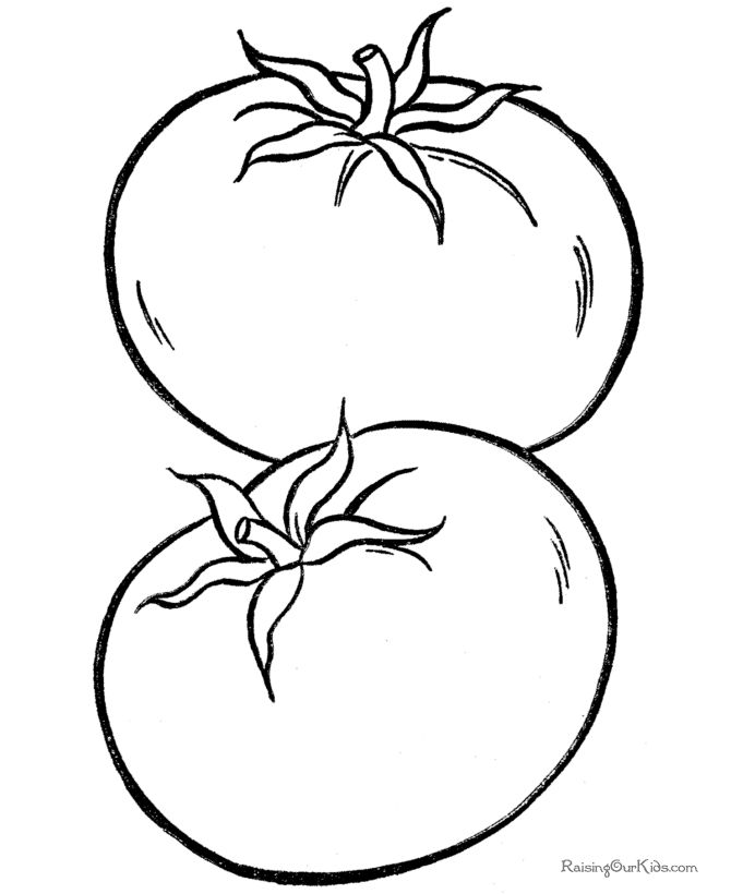 Tomato coloring picture to print and color