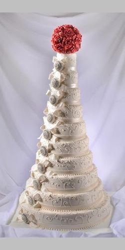 Indian Weddings Inspirations. White cake. Repinned by #indianweddingsmag indianweddingsmag.com