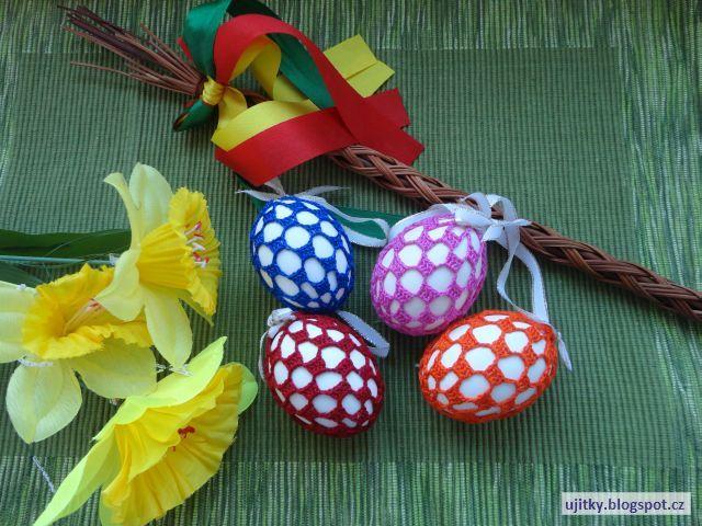 Háčkované Velikonoce - svlékací kraslice s kostičkami - návod