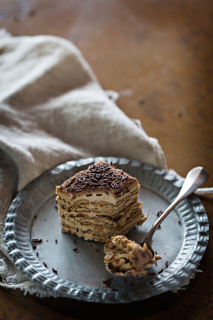 Pastel de galletas y café - Dulcesol