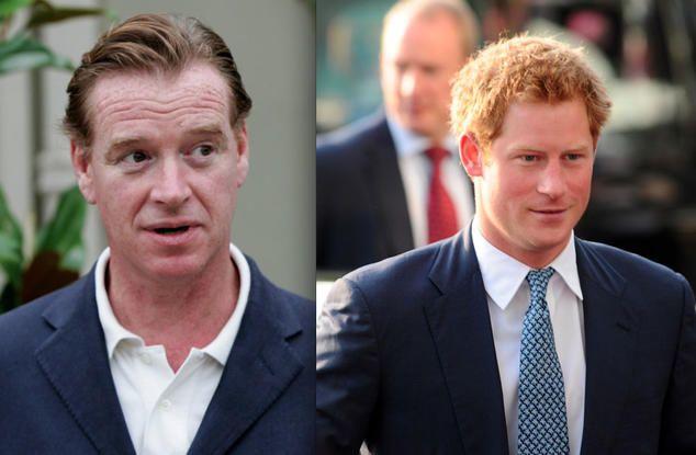 Prinz Harry (R) und  James Hewitt, der Reitlehrer von Prinzessin Diana