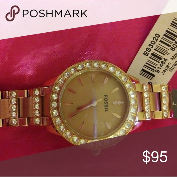 Fossil Ladies Watch NEW Gold Watch Accessories Watches
