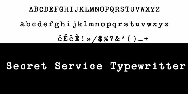 Secret Service Typewritter typo
