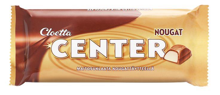 Cloetta Center Nougat -levy (n. 1e) Tämä on aivan tolkuttoman hyvää, mutta ei ole kovinkaan monen marketin valikoimassa :(