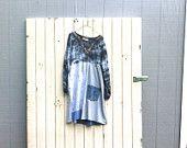 abito boho patchwork funky / eco tunica abito / upcycled abbigliamento / vestito / casual / boho mini vestito da CreoleSha